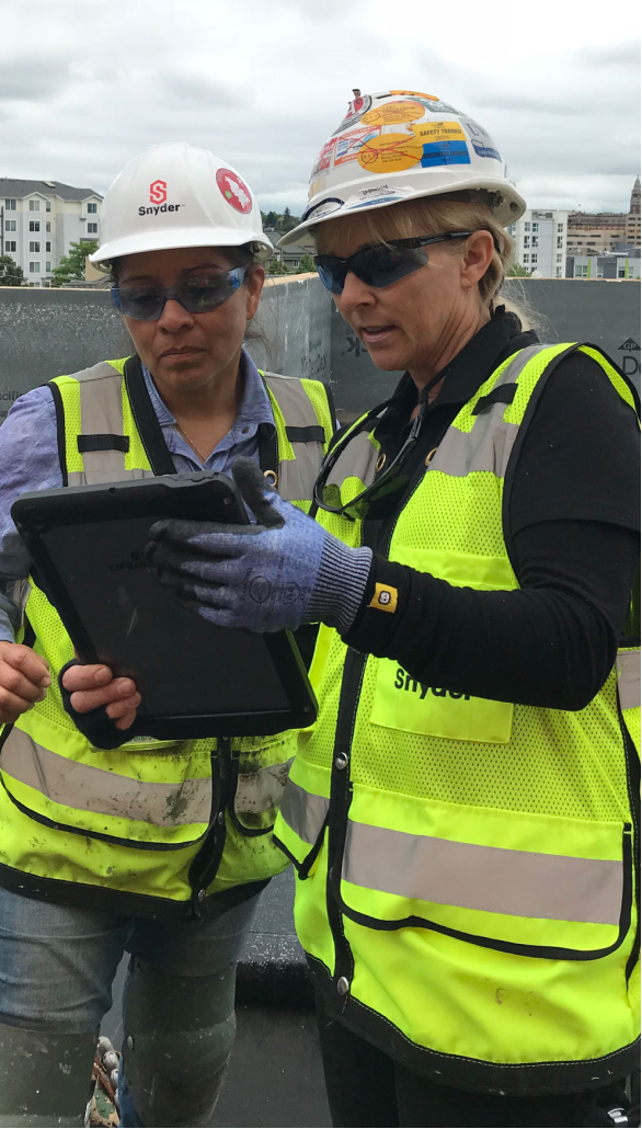 Woman ir Roofing