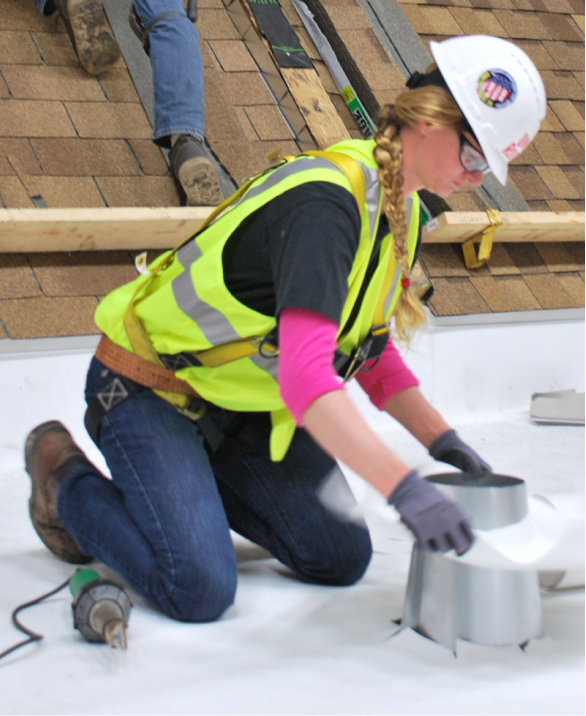 Woman in Roofing